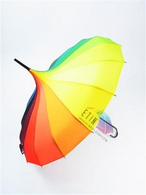 Sharp rainbow color umbrella always eye catching and with gyro design A017