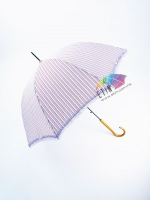 Lady umbrella with beautiful strip and lace A037